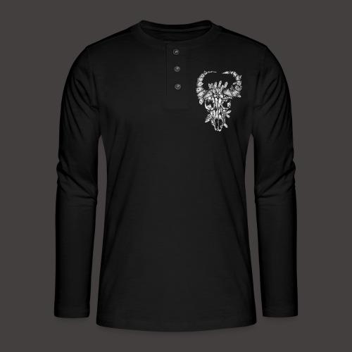 Buffle de Cristal Noir et Blanc - T-shirt manches longues Henley