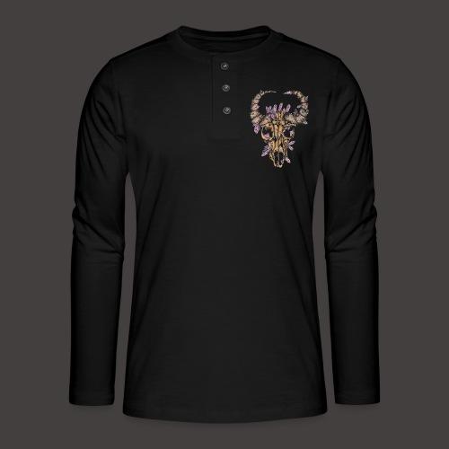 Buffle de Cristal Couleur - T-shirt manches longues Henley