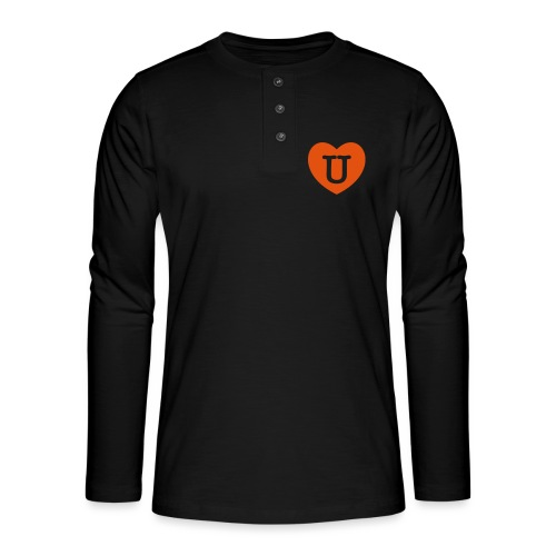 LOVE- U Heart - Henley long-sleeved shirt