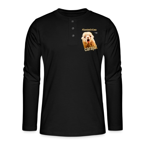 Quedate En Casa Caraju - Camiseta panadera de manga larga Henley