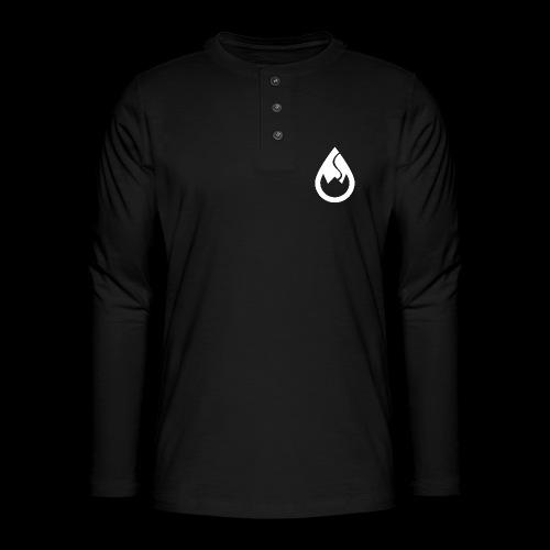 WS-Crew Tropfen-Logo weiß - Henley Langarmshirt