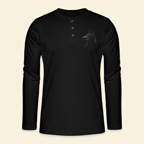 schwarzer Schäferhund / Malinois - Henley Langarmshirt