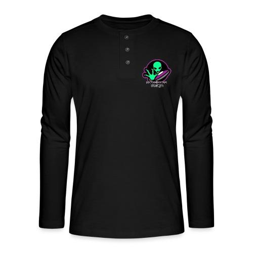Logo Marcianos v.2 - Camiseta panadera de manga larga Henley