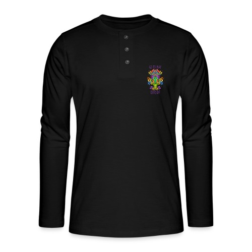 Go to play outside - Henley Langarmshirt