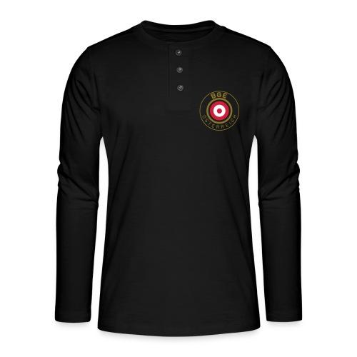 BGE in Österreich mit Fahne - Henley Langarmshirt