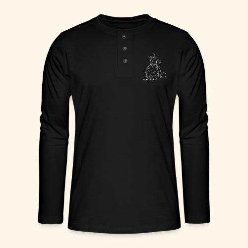 Schafbock: Bockig - weiß - Henley Langarmshirt