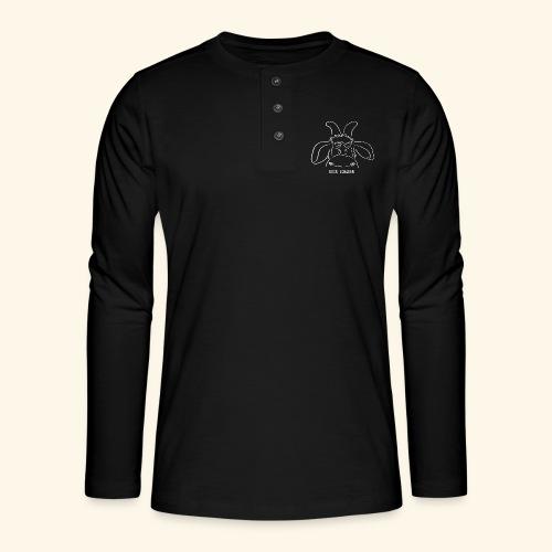 Bock schauen - weiß - Henley Langarmshirt