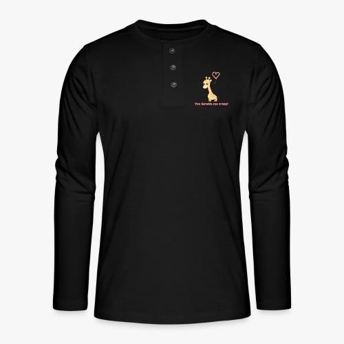 Giraffe Me Crazy - Henley T-shirt med lange ærmer