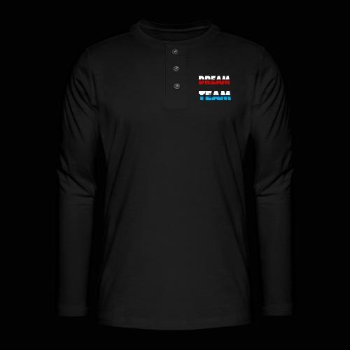 DreamTeam - Henley T-shirt med lange ærmer