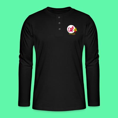 Pussy Power - Henley T-shirt med lange ærmer
