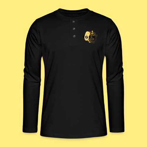 Logo - shirt women - Henley shirt met lange mouwen