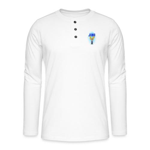 Pixel Jamo - Henley T-shirt med lange ærmer