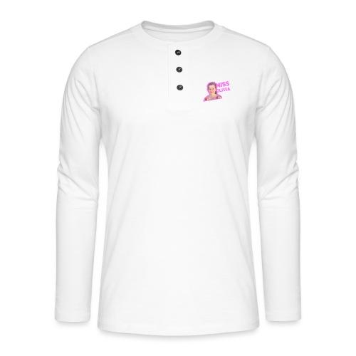 MissOlivia - Henley shirt met lange mouwen