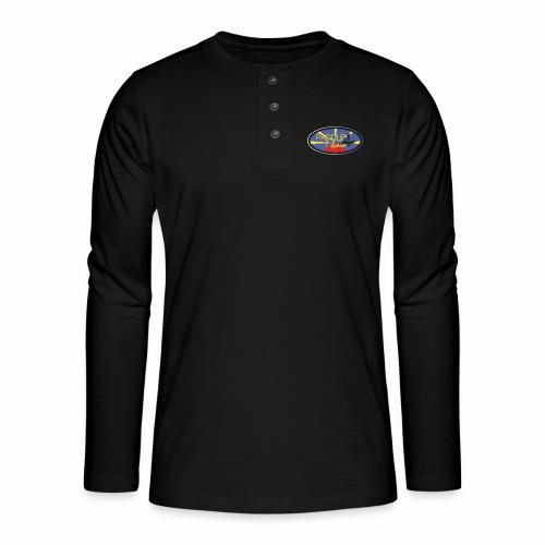 Drapeau Paddle Reunion - T-shirt manches longues Henley