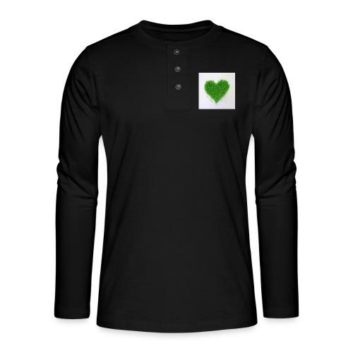 Herzrasen Button - Henley Langarmshirt