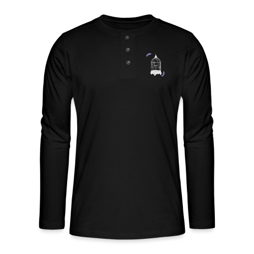 Trapped Inside - Henley long-sleeved shirt