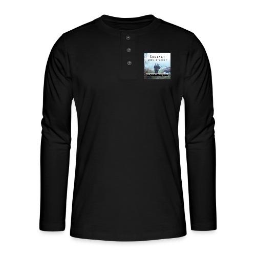 Sosialt Uakseptabelt - Henley langermet T-skjorte