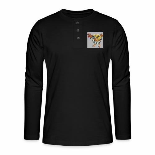 SWAG Chicken Logo - Henley long-sleeved shirt