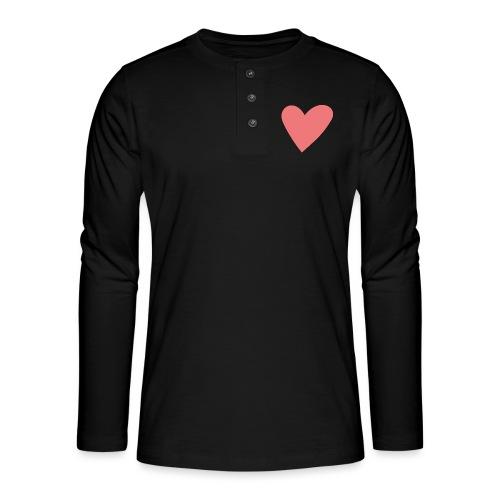 Popup Weddings Heart - Henley long-sleeved shirt