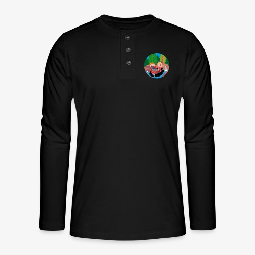 Themepark: Rapids - Henley shirt met lange mouwen