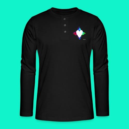 4lof - Henley shirt met lange mouwen
