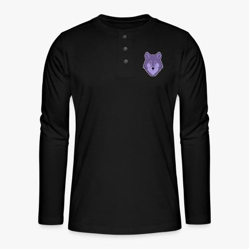 Spirit Wolf - Henley T-shirt med lange ærmer