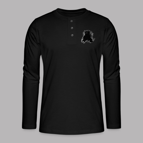 Alan at Attention - Henley long-sleeved shirt