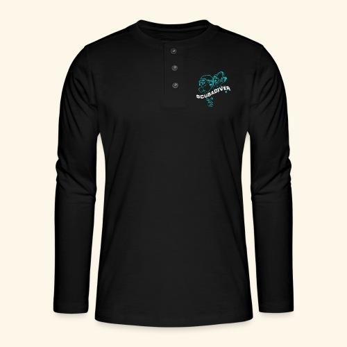 ScubaDiverShirt001 - Henley shirt met lange mouwen
