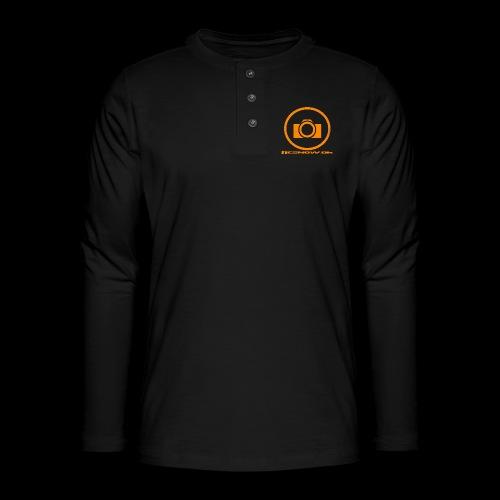 Orange 2 png - Henley T-shirt med lange ærmer