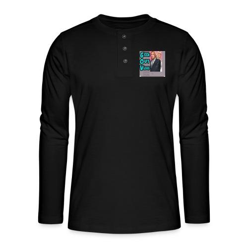 GeekOut Vlogs NES logo - Henley long-sleeved shirt