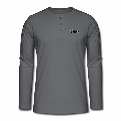 Enmy Grey Sweatshirt - Henley long-sleeved shirt