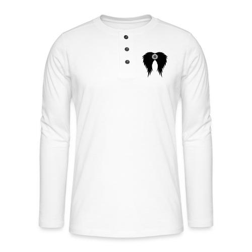 Supernatural wings (vector) Hoodies & Sweatshirts - Henley long-sleeved shirt