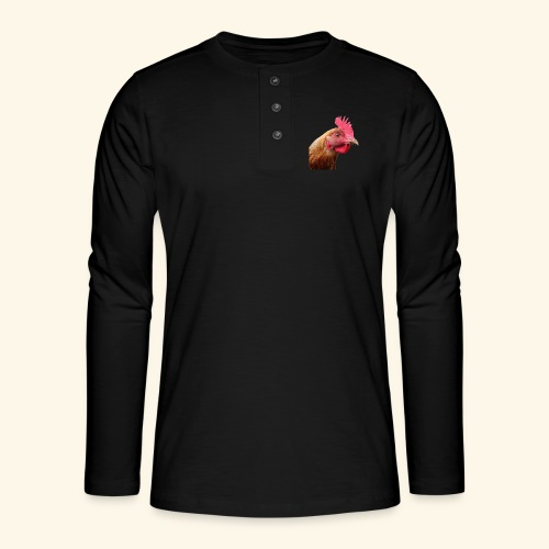 chicken PNG2159 - Henley pitkähihainen paita