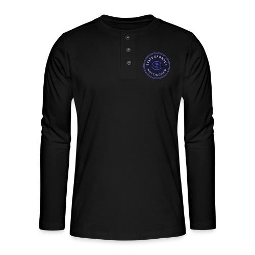 state of grace logo - Henley long-sleeved shirt