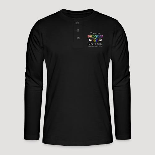 Rainbow Sheep - Henley Langarmshirt