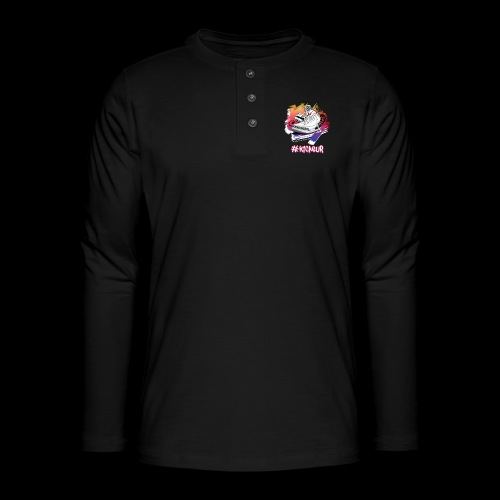 #Kickeur Blanc - T-shirt manches longues Henley