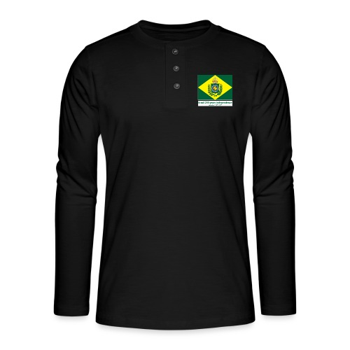 Brazil 200 years independence - Henley langermet T-skjorte
