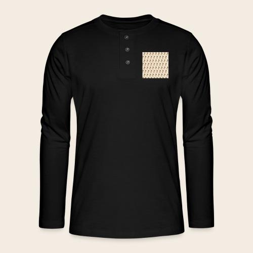 mops muster 2 - Henley Langarmshirt