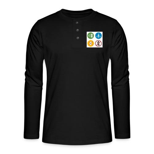 4kriteria obi vierkant - Henley shirt met lange mouwen