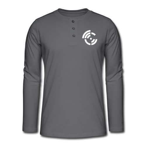 electroradio.fm logo - Henley long-sleeved shirt