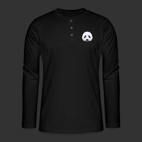 Panda Low Poly - T-shirt manches longues Henley