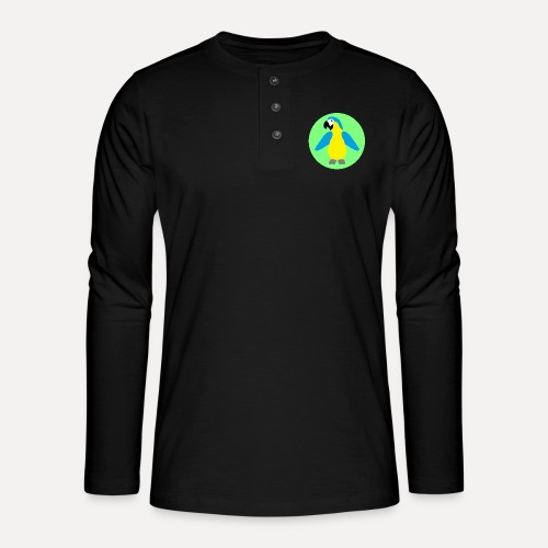 Yellow-breasted Macaw - Henley long-sleeved shirt