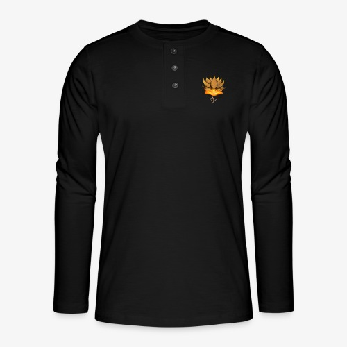 Lotus ventre chakra - T-shirt manches longues Henley