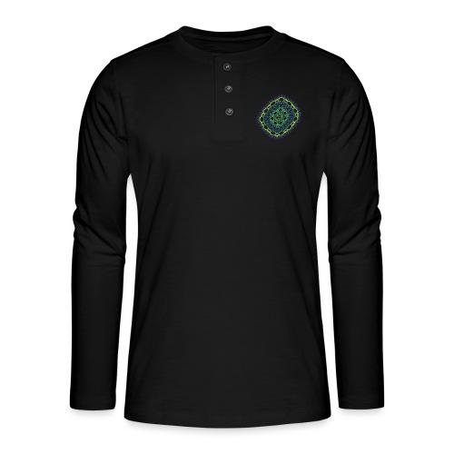Smaragdgewebe gesponnen aus dem Chaos 5320viridis - Henley Langarmshirt