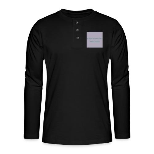Tekst - Henley T-shirt med lange ærmer