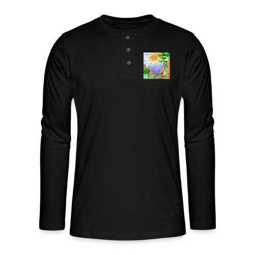Sol - Henley T-shirt med lange ærmer
