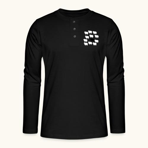 Lustige Schafherde Schwarzes Schaf Geschenkidee - T-shirt manches longues Henley