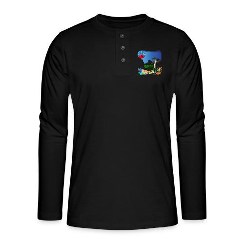 Gecko Ile de la Réunion - T-shirt manches longues Henley