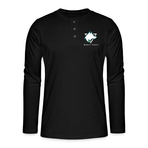 Wolf Pack Logo (NEW) - Henley long-sleeved shirt