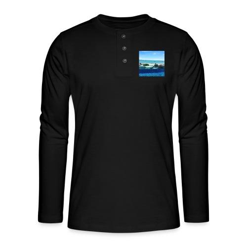 Thailand pattaya - Henley T-shirt med lange ærmer